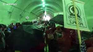 Los Angeles teachers' strike marches through downtown tunnel [Video]