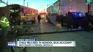 Student taken to the hospital after crash involving Buffalo school bus [Video]