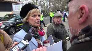 News video: MP Anna Soubry welcomes 'Brexiteers' at Parliament on vote day