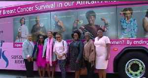 Pink bus unveiled to raise breast cancer awareness [Video]