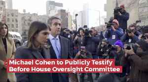 News video: Michael Cohen Will Testify Publicly About Trump In Congress