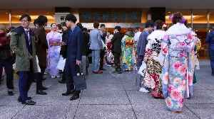 Japan's young adults celebrate Coming of Age Day with song and dance [Video]