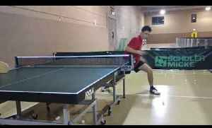 Teen Shows off Amazing Table Tennis Skills During Practice [Video]
