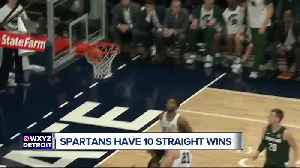 Tom Izzo happy with 10 straight wins, wants to keep pushing his guys [Video]