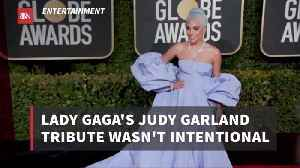 Lady Gaga Paid Homage To Judy Garland By Accident [Video]