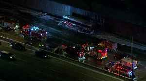 Crews Working On I-294 After Semi, Bus Crash [Video]