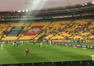 Shirtless Pitch Invader Goes for Goal During Wellington Phoenix A-League Game [Video]