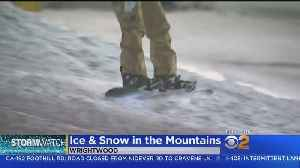 Several Inches Of Snow Falls In San Gabriel Mountains [Video]