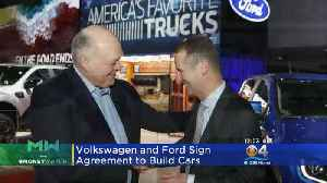 Ford-Volkswagen Sign Agreement [Video]
