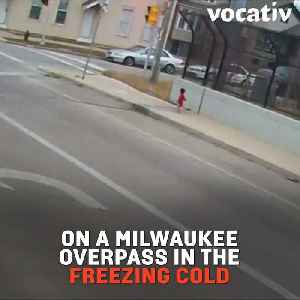 Bus Driver Goes Out of Her Way to Save Toddler Lost on the Freeway [Video]