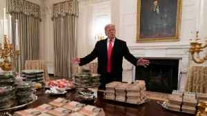 Trump Takes Heat for Serving College Football Champs Fast Food [Video]