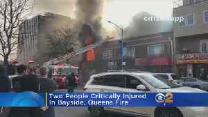 Two Critically Injured In Queens Fire [Video]