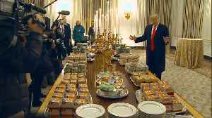 News video: Trump Serves Clemson University Football Team McDonald's at White House
