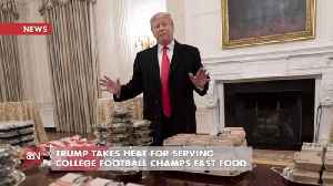 Trump Buys Dinner Personally For College Football Champs [Video]