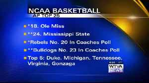 MSU/Ole Miss men's basketball both in Top 25 [Video]