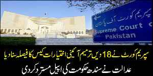 News video: Supreme court rejects Sindh Government's appeal