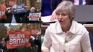 News video: Brexit: Theresa May loses vote, demonstrators take to streets