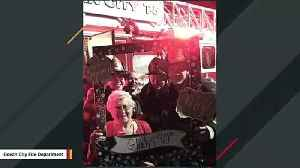 Firefighters Join Birthday Celebration After 90 Candles Trigger Fire Alarm [Video]