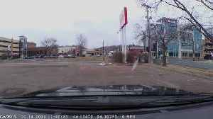 Kid in Car Seat Tumbles into Traffic [Video]