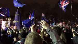 Pro-EU protesters react to May's Brexit Commons defeat [Video]