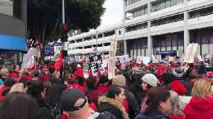 Massive turnout for day 2 of Los Angeles teachers' strike [Video]