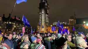 Crowd Cheers in London's Parliament Square After May's Brexit Vote Defeat [Video]