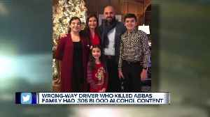 Driver in crash that killed Abbas family had blood alcohol level nearly four times legal limit [Video]
