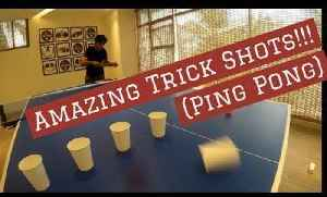 Guy Does Ping Pong Trick Shots with Cups and Roll of Tape [Video]