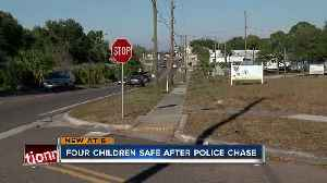 Suspect crashes into unmarked PCSO SUV while running from deputies with four kids in car [Video]