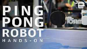 Omron Forpheus Hands-On at CES 2019: Ping-pong playing robot [Video]