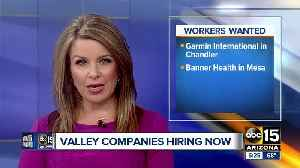Several Valley jobs up for grabs [Video]