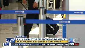 Airport workers and TSA agents rally at BWI to end shutdown [Video]