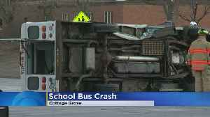 No Injuries Reported In School Bus Crash [Video]
