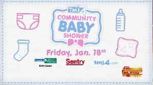 Sentry and the TODAY'S TMJ4 Community Baby Shower [Video]