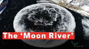 Moon River: Giant Spinning Ice Disc Mesmerizes in Maine [Video]