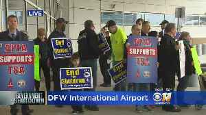 News video: TSA Workers Rally Over Gov't Shutdown At DFW Airport