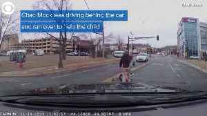 WEB EXTRA: Toddler Falls Out Of Car [Video]