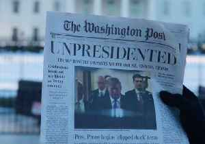 News video: Satirical Washington Post Issue Handed Out Outside White House