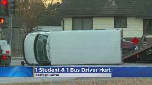 2 Injured In Crash Involving School Bus In Cottage Grove [Video]