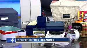 Ask the Expert: Keeping your home, work spaces tidy and in order [Video]