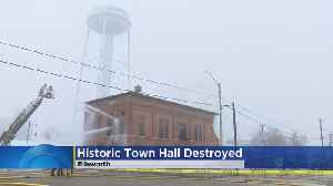 Historic Town Hall Torn Down After Fire [Video]