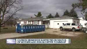 Mother, son found dead in suspected carbon monoxide deaths [Video]