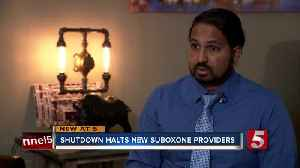 Shutdown could affect patients seeking specific opioid addiction treatment [Video]