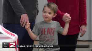 Four-year-old red cap survivor ambassador [Video]