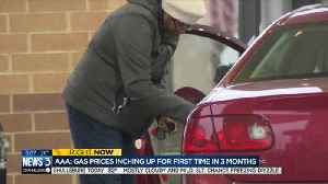 Gas prices heading up for first time in 3 months [Video]