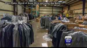 Church Gives Away Free Men's Suits for Camp Fire Survivors [Video]