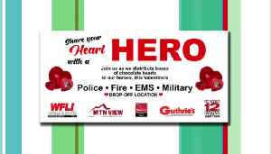 Join WFLI and News 12 in Honoring our Heroes with a Special Heart on Valentine's Day [Video]