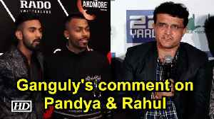 Sourav Ganguly comments on Pandya, Rahul, says people make mistakes [Video]