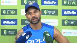 Dhoni  gives confidence to the batsmen at the other end: Shikhar Dhawan [Video]