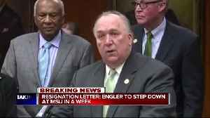 Engler writes in 11-page resignation letter that he'll quit in a week [Video]